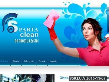 Zrzut strony Sparta Clean