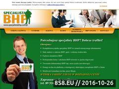 Miniaturka domeny www.specjalistabhp.com.pl