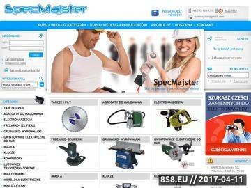 Zrzut strony Specmajster.pl Najtańsze narzędzia w sieci