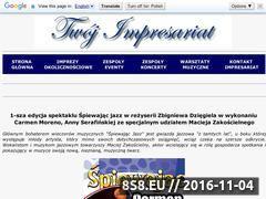 Miniaturka domeny spiewajacjazz1.twoj-impresariat.pl