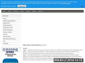 Zrzut strony Spinex kleje do etykiet zawory przemysłowe