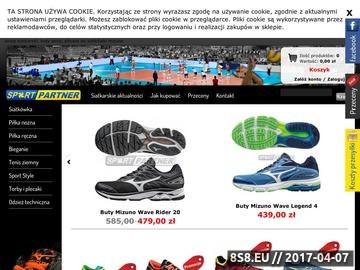 Zrzut strony Sport Partner - siatkarski sklep internetowy