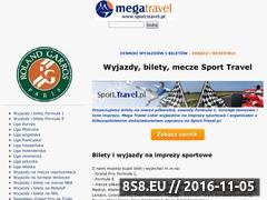 Miniaturka www.sport.travel.pl (Bilety na imprezy sportowe)
