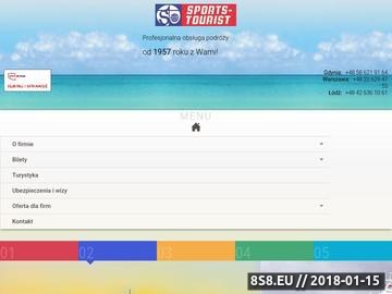 Zrzut strony Sports-Tourist - Ogolnopolskie biuro podrozy, bilety lotnicze - caly swiat