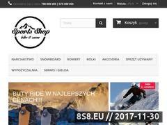 Miniaturka sportsshop.pl (Snowboard - sklep Sports Shop we Wrocławiu)