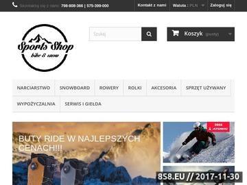 Zrzut strony Wypożyczalnia sprzętu narciarskiego we Wrocławiu