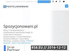 Miniaturka domeny www.spozycjonowani.pl