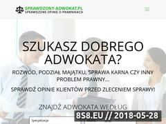 Miniaturka domeny sprawdzony-adwokat.pl