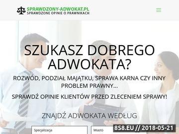Zrzut strony Adwokaci Warszawa - lista adwokatów