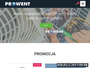 Zrzut strony Prowent oferuje usługi w zakresie klimatyzacji i wentylacji