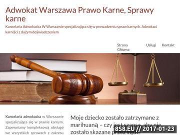 Zrzut strony Adwokat Warszawa
