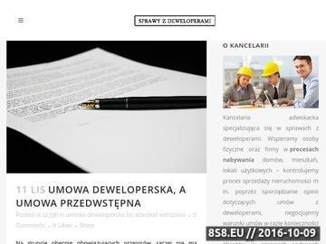 Zrzut strony Opinia prawna umowy deweloperskiej