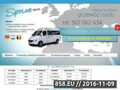 Miniaturka domeny www.sprintbus.com.pl