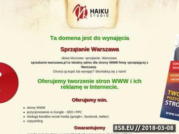 Zrzut strony Sprzątanie Warszawa. Sprzątanie domów, mieszkań.