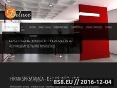Miniaturka sprzataniedeluxe.pl (Sprzątanie biur, szkół i przychodni)