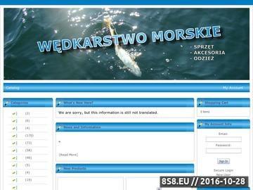 Zrzut strony WĘDKARSTWO MORSKIE - Sklep ze sprzętem i akcesoriami do wędkarstwa morskiego