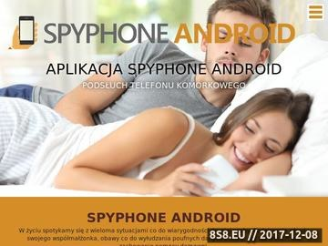 Zrzut strony Spyphone Android