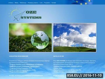 Zrzut strony OZE SYSTEMS - Kolektory słoneczne, pompy ciepła, baterie słoneczne, PV