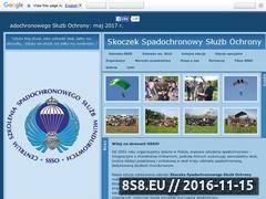 Miniaturka ssso.strefa.pl (Szkolenia spadochronowe dla służb mundurowych)