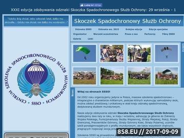 Zrzut strony Skoczek Spadochronowy Służb Ochrony - skoki spadochronowe dla każdego!