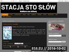Miniaturka stacjastoslow.blogspot.com (Książki, gry, filmy i seriale, sprzęt)