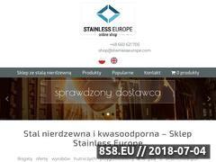 Miniaturka stainlesseurope.com (Wysokiej jakości produkty ze stali nierdzewnej)