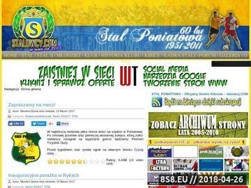 Zrzut strony STAL PONIATOWA - Oficjalny Serwis Kibiców - stalowcy.com
