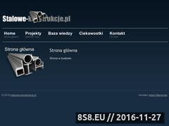 Miniaturka domeny www.stalowe-konstrukcje.pl