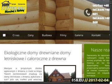 Zrzut strony Domy drewniane naturalne z bali litych