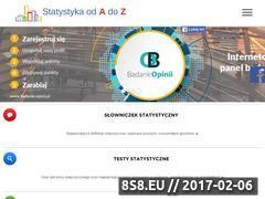 Miniaturka www.statystyka.az.pl (Portal edukacyjny poświęcony statystyce)