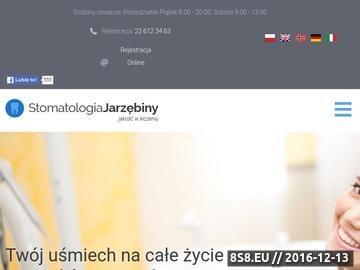 Zrzut strony Stomatologiajarzebiny.pl - gabinet stomatologiczny