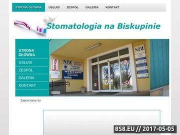 Zrzut strony Stomatologia na Biskupinie