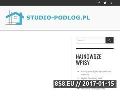 Miniaturka domeny www.studio-podlog.pl