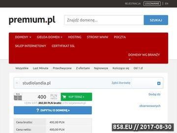 Zrzut strony Studiolandia.pl uczelnie wyższe, studia, szkoły policealne