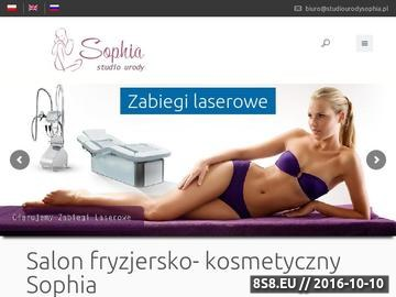 Zrzut strony Studio Urody Sophia Warszawa Centrum, salon fryzjersko-kosmetyczny dla każdego!