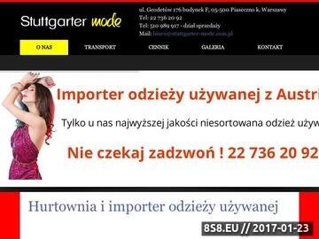 Zrzut strony Hurtownie odzieży używanej Warszawa