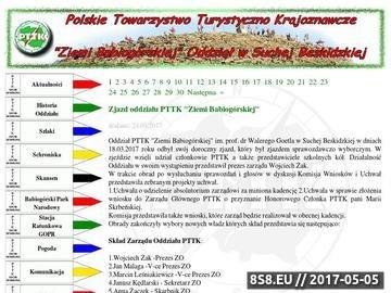 """Zrzut strony PTTK """"Ziemi Babiogórskiej"""" - Oddział Sucha Beskidzka"""