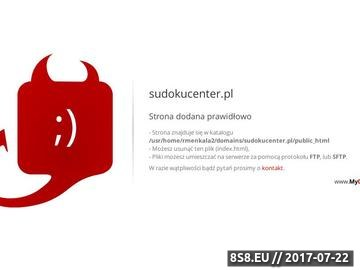 Zrzut strony Sudoku Center Online