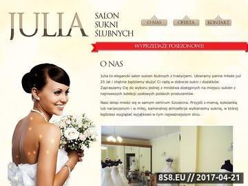 Zrzut strony Salon sukien ślubnych Szczecin