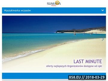 Zrzut strony Biuro Podróży Sumada Travel :: Wszystko co najlepsze pod słońcem