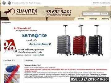 Zrzut strony Sumatra-sklepy.pl - torebki, walizki, portfele, teczki, galanteria skórzana