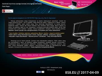 Zrzut strony SunSys.pl - Serwis Naprawa - Usługi Komputerowe Błonie