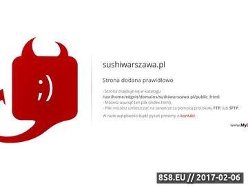Zrzut strony Sushi Warszawa