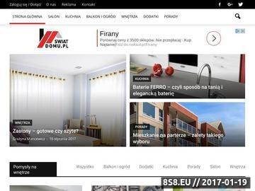 Zrzut strony Swiat-Domu.pl - wyposażenie domu, łazienki, kuchni, akcesoria łazienkowe