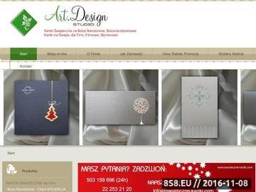 Zrzut strony Biznesowe Kartki Świąteczne dla Firm - Art.Design Studio