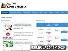 Miniaturka domeny swiatkonsumenta.pl
