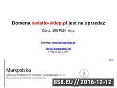 Miniaturka domeny www.swiatlo-sklep.pl