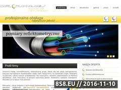 Miniaturka domeny www.swiatlowody.coretechnologies.pl