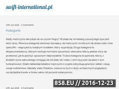 Miniaturka domeny www.swift-international.pl
