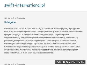 Zrzut strony Logistyka, transport, kompleksowa dostawa towaru - SWIFT International Polska